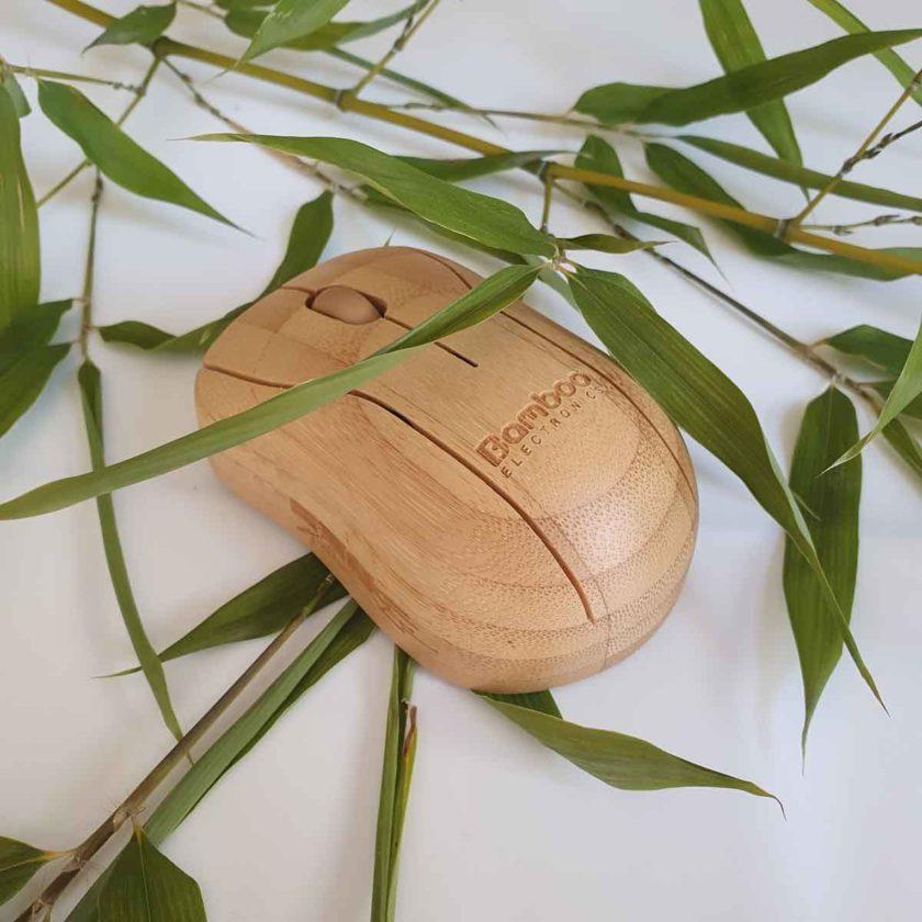 souris sans fil en bois