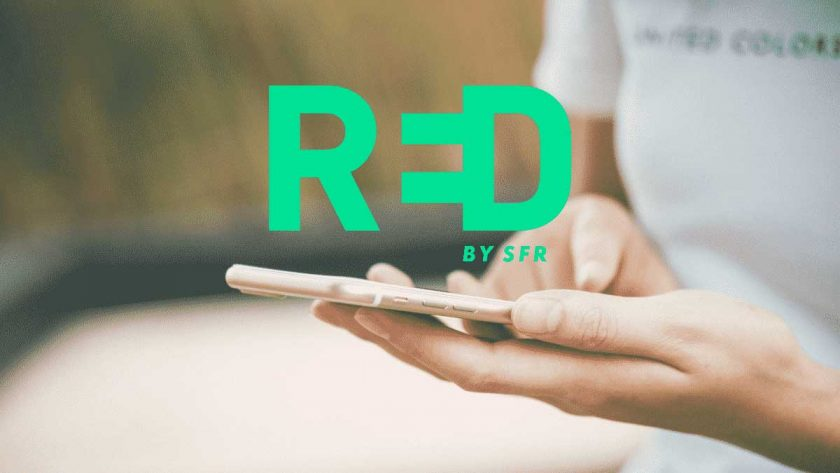 smartphone red by sfr
